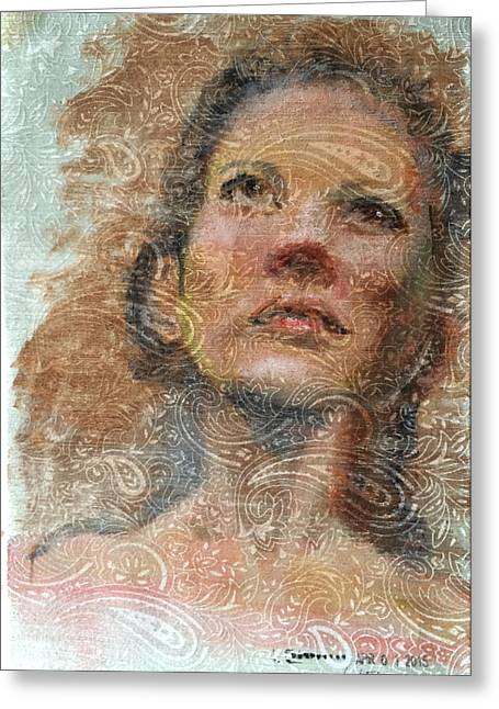 Pensive Greeting Card by Vicki Ross