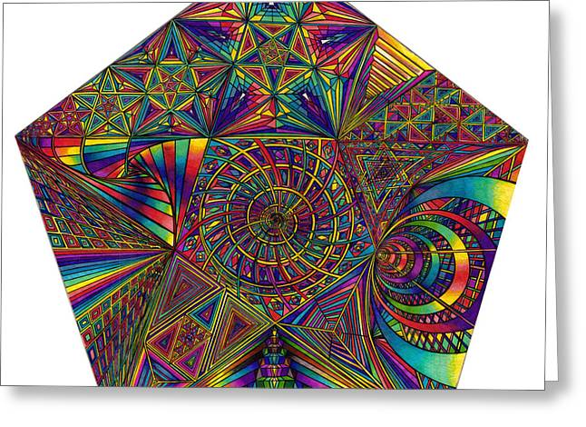 Pentacles Greeting Card by diNo