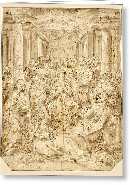 Pentecost Greeting Card by Hendrik de Clerck