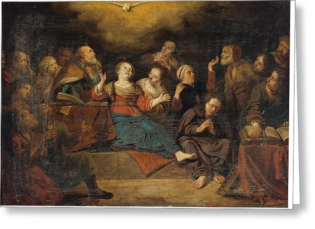 Pentecost Greeting Card by Salomon de Bray