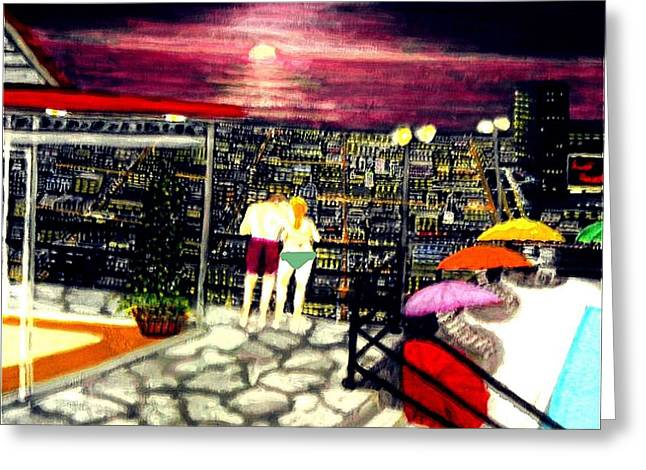 Penthouse View Greeting Card by Larry E Lamb