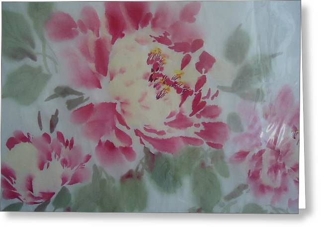 Peony 4 Greeting Card by Dongling Sun
