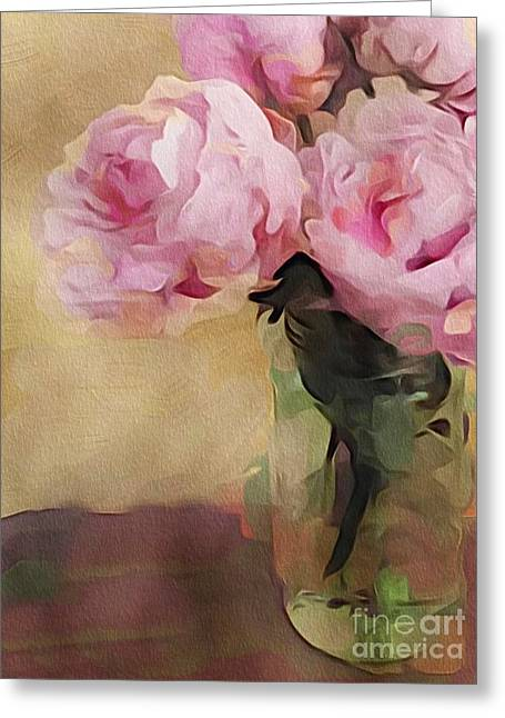 Peony Bouquet Greeting Card by Alexis Rotella