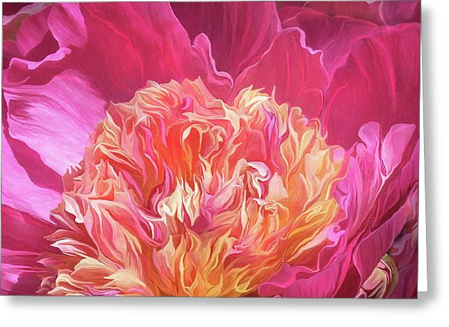 Peony - Flower Of Desire Greeting Card