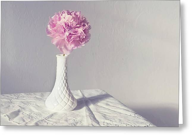 Peony In The Light Greeting Card