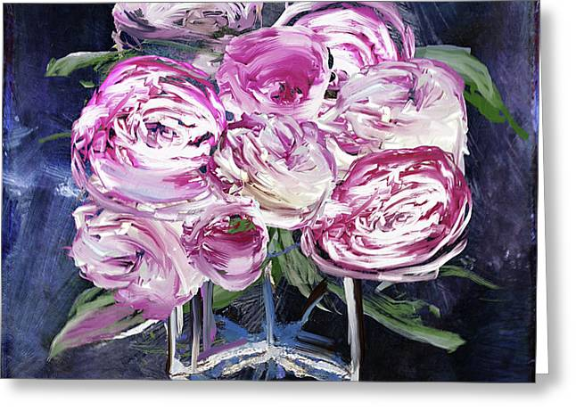 Peony Jar Greeting Card by Mindy Sommers