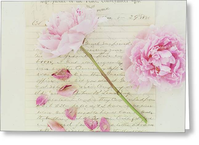 Peony Peace Greeting Card