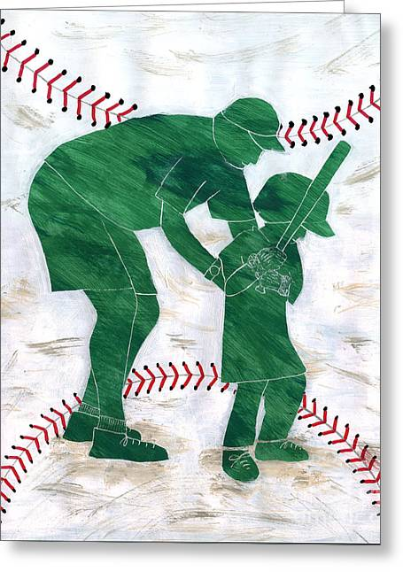 People At Work - The Little League Coach Greeting Card