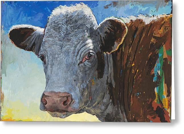 People Like Cows #17 Greeting Card by David Palmer