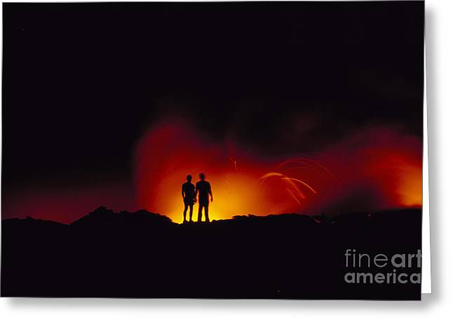 People View Lava Greeting Card by Ron Dahlquist - Printscapes
