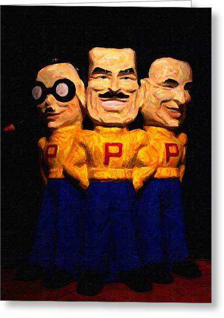 Pep Boys - Manny Moe Jack - Painterly - 7d17428 Greeting Card by Wingsdomain Art and Photography