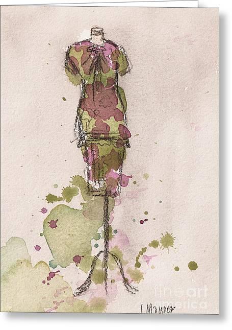 Peplum Dress Greeting Card by Lauren Maurer