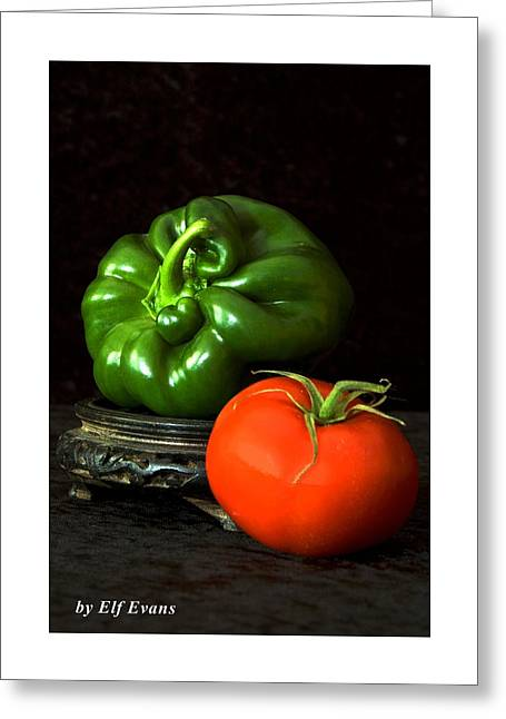 Pepper And Tomato Greeting Card