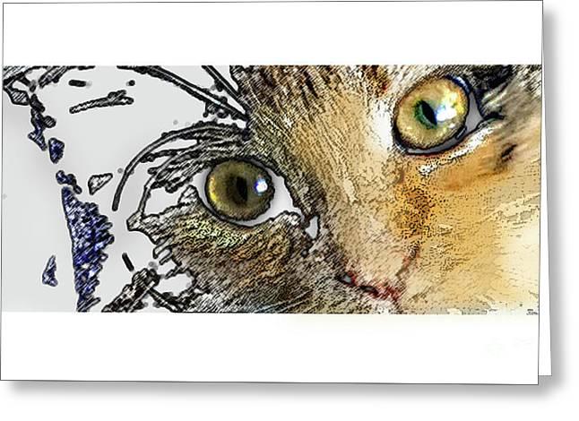 Pepper Eyes Greeting Card by Deborah Nakano