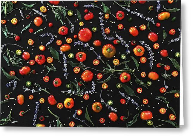 Pepper Pattern Greeting Card