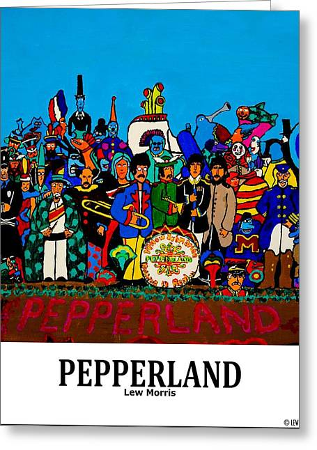 Pepperland Greeting Card by Lew Morris