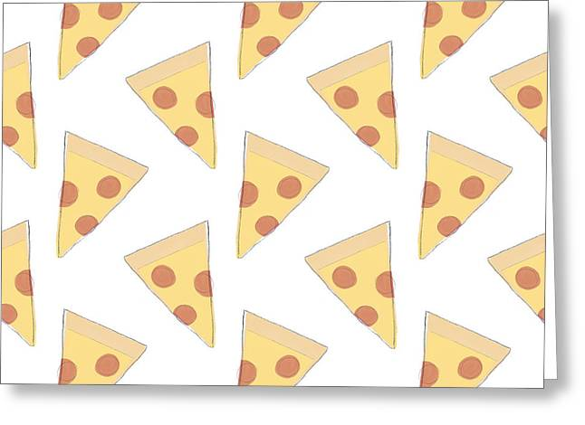Pepperoni Pizza- Art By Linda Woods Greeting Card