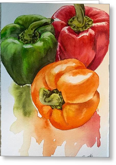 Peppers 3 Greeting Card