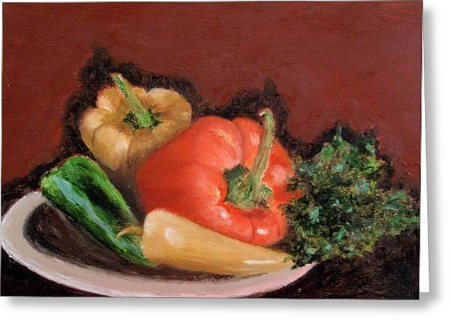 Peppers And Parsley Greeting Card