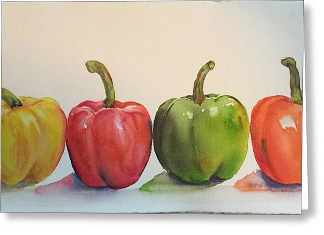 Peppers Four Greeting Card