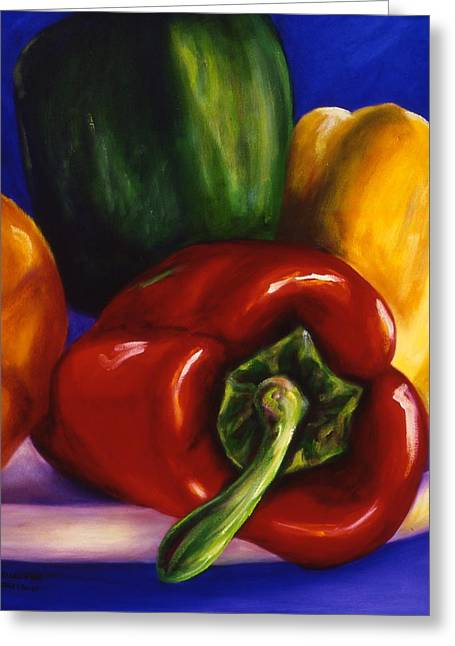 Peppers On Peppers Greeting Card