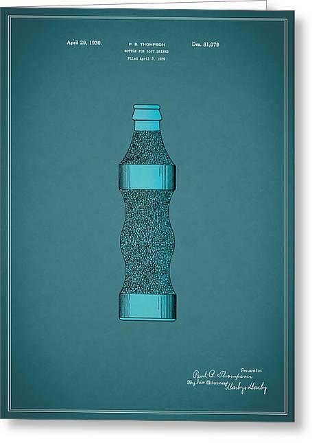 Pepsi Cola Bottle Patent 1930 Greeting Card