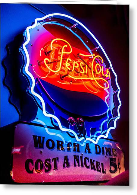 Pepsi Cola - Worth A Dime, Cost A Nickel Greeting Card by Jon Berghoff