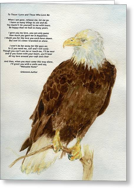 Perched Eagle- With Verse Greeting Card
