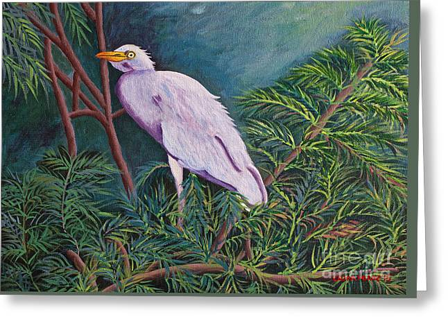 Perched On High Greeting Card by Laura Forde