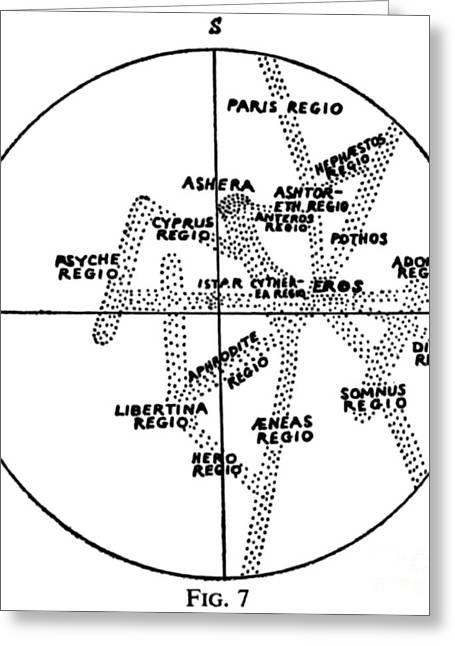 Percival Lowell Venus Map, 1897 Greeting Card