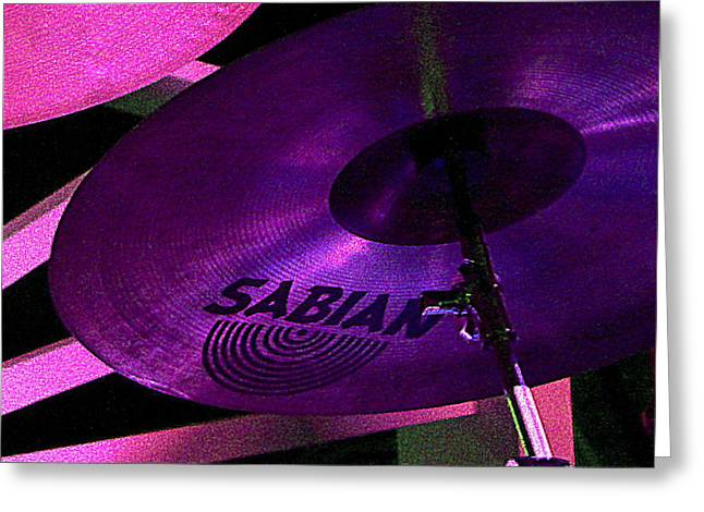 Greeting Card featuring the photograph Percussion by Lori Seaman