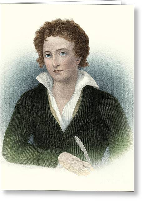 Percy Bysshe Shelley, English Romantic Greeting Card by Science Source