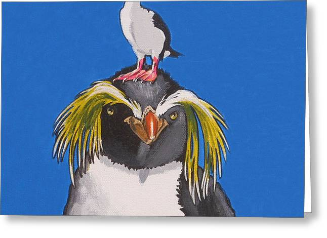 Percy The Penguin Greeting Card