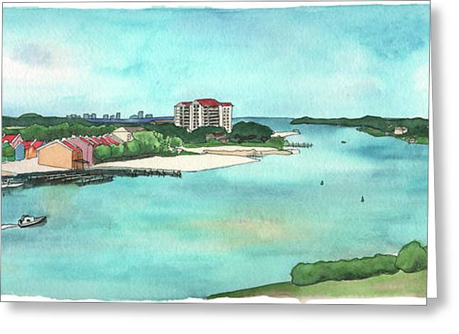 Greeting Card featuring the painting Perdido Key River by Betsy Hackett