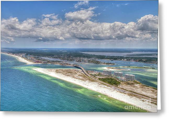 Perdido Pass Aerial 3029 Greeting Card