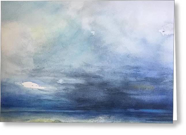 Perdido Storm Rising Greeting Card by Karen Lindeman