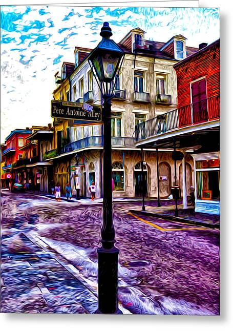 Pere Antoine Alley - New Orleans Greeting Card by Bill Cannon