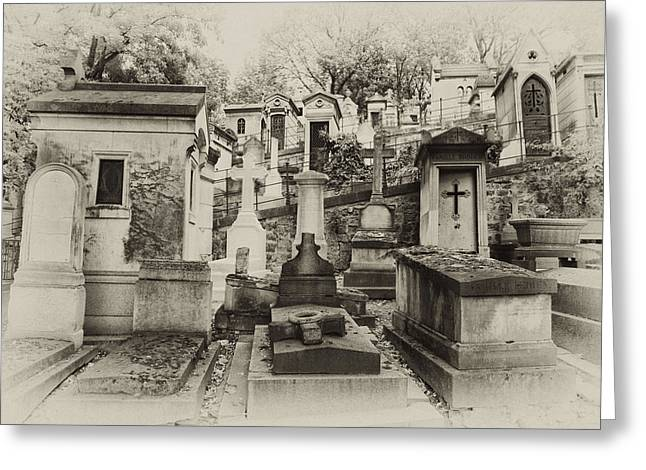 Pere La Chaise Landscape Greeting Card by Michael Riley