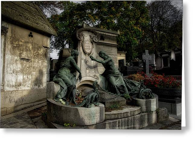 Pere Lachaise Tomb Greeting Card