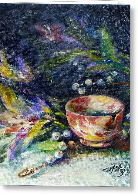 Perfect Agate Cup Greeting Card by Mitzi Lai