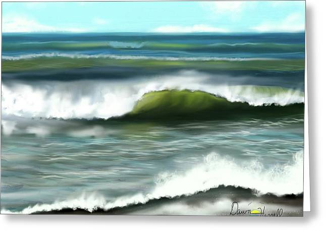 Greeting Card featuring the digital art Perfect Day by Dawn Harrell