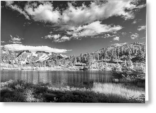 Greeting Card featuring the photograph Perfect Lake At Mount Baker by Jon Glaser
