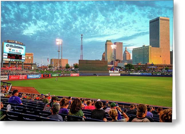 Oneok Stadium, Tulsa Drillers, Tulsa Skyline Photo, Tulsa Art, Best Tulsa Photos Greeting Card by Gregory Ballos