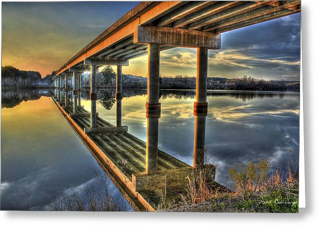 Perfect Reflection Bridges Of Georgia Greeting Card