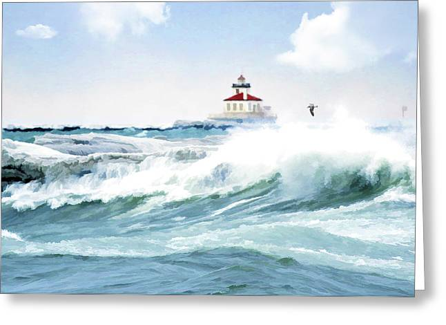 Perfect Storm Greeting Card by Celestial  Blue