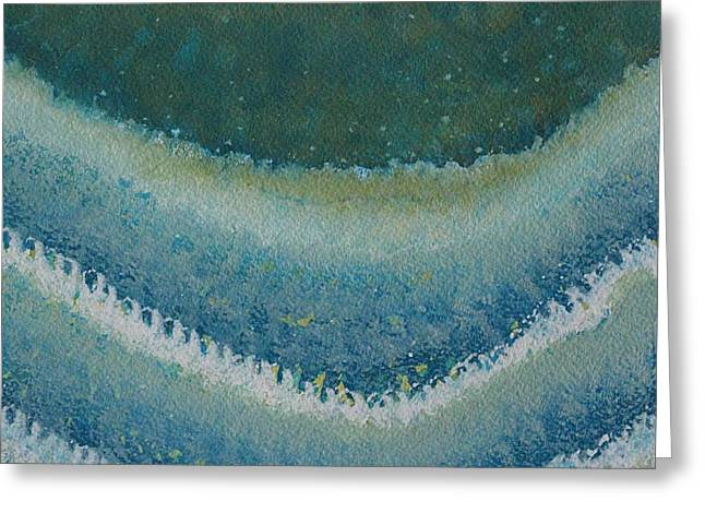 Perfect Storm Original Painting Greeting Card by Sol Luckman