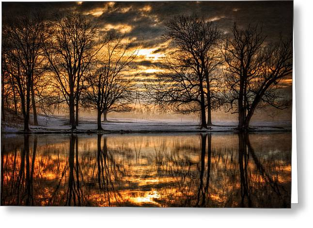 Regal Greeting Cards - Perfect Sunset Greeting Card by Everet Regal