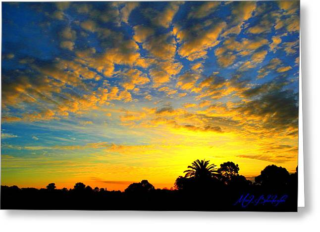 Greeting Card featuring the digital art Perfect Sunset by Mark Blauhoefer