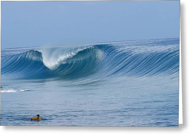Perfect Wave Teahupoo Greeting Card by Danny Aab