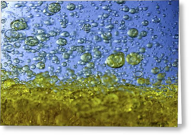 Abstract Olive Oil Greeting Card by Stelios Kleanthous